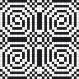 Illustration sans couture monochrome de vecteur de modèle de pixel belle Photographie stock libre de droits