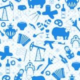 Illustration sans couture sur le thème du voyage dans le pays de la Russie, un contour simple des icônes de bande dessinée avec u illustration libre de droits