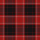 Illustration sans couture, tartan rouge Image stock