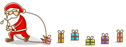 Illustration of Santa. This is an illustration of Santa Stock Image