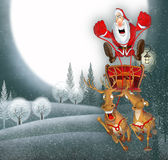 Illustration with Santa Claus Royalty Free Stock Image