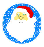 Illustration of Santa Claus. With blue in background Royalty Free Stock Photos