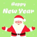 Illustration of Santa Claus. Illustration of Santa Claus, Christmas card design template. Vector illustration Royalty Free Stock Images