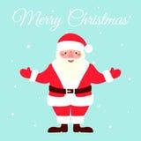 Illustration of Santa Claus. Illustration of Santa Claus, Christmas card design template. Vector illustration Royalty Free Stock Photo