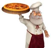 Illustration Santa Claus Cooks 3D in der Karikatur Stule Isolated On White Stockfotos