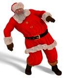 Illustration Santa Claus Dances 3D lokalisiert auf Weiß Lizenzfreies Stockbild