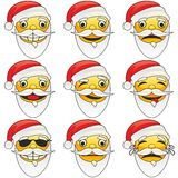 Illustration of santa claus emoticons Stock Images