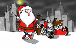 Illustration of santa claus Stock Image