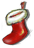 Illustration of a Santa Claus hat Royalty Free Stock Photos