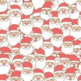 Santa claus seamless pattern background stock illustration