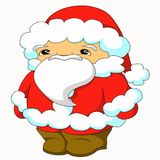 An illustration of Santa Claus in a smaller size royalty free stock image