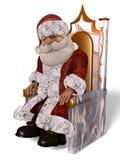 Illustration Santa Clauss 3D in der Karikatur Stule Isolated On White stock abbildung