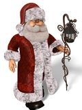 Illustration Santa Clauss 3D in der Karikatur Stule Isolated On White lizenzfreie abbildung