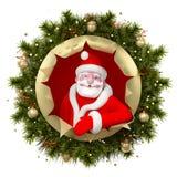 illustration Santa de Claus de Noël Images libres de droits