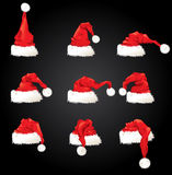 illustration of santa hat set Royalty Free Stock Photos