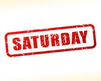 Saturday red text stamp. Illustration of saturday red text stamp Royalty Free Stock Images