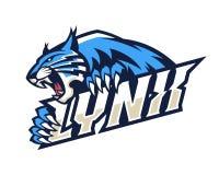 Illustration sauvage de Lynx Logo Mascot Vector Images stock
