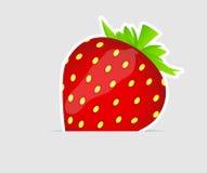 Illustration savoureuse douce de vecteur de fraise Images libres de droits