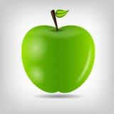 Illustration savoureuse douce de vecteur de pomme Image stock