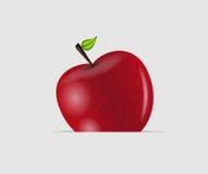 Illustration savoureuse douce de vecteur de pomme Photographie stock