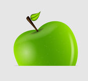 Illustration savoureuse douce de vecteur de pomme Photo stock