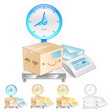 Illustration of Scales to measure the weight of the product. Pro Stock Photography