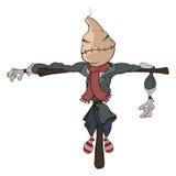 Illustration of scarecrow. Cartoon Royalty Free Stock Photo