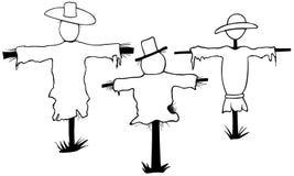 Illustration of scarecrows Stock Photos