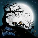 Halloween night background. Illustration of Scary Halloween night background Royalty Free Stock Photos