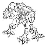 Scary Werewolf Monster Character. An illustration of a scary werewolf monster character stock illustration