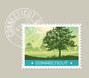 Illustration of scenic Connecticut countryside. Royalty Free Stock Photos