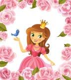 Illustration schöner Prinzessin Lizenzfreie Stockfotos