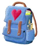Illustration of school backpack on a white background Royalty Free Stock Image