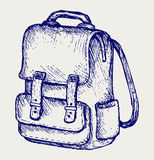 Illustration school bag. Doodle style Stock Image