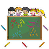 Illustration of school boys Stock Photo