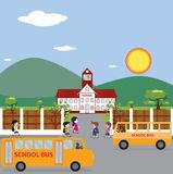 Illustration of School Building. Stock Photos