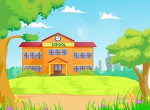 Illustration of school building Royalty Free Stock Images