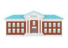 Illustration of school building. Illustration of school building on white background Stock Photos