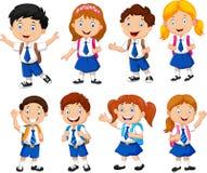 Illustration of school children cartoon Stock Photos