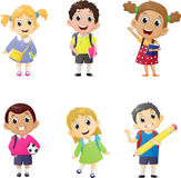Illustration of school kids in education concept. Stock Photography