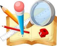 Illustration of school supplies Royalty Free Stock Image