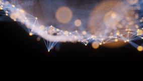 Illustration scientifique abstraite du fond 3d de structure de graphique ou de nano Photos libres de droits