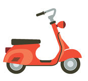 Illustration of scooter. Stock Photography