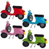 illustration scooters vintage Στοκ Εικόνες