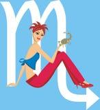 Illustration Scorpio girl Royalty Free Stock Photos
