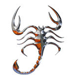 Illustration of a scorpion. In chrome Stock Photo