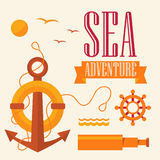 Illustration sea adventure Stock Photo