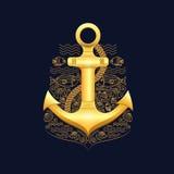Illustration sea anchor Stock Photos