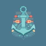 Illustration sea anchor Royalty Free Stock Photo