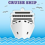 Illustration of sea cruise passenger liner. Stock Image